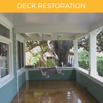 Deck Restoration Service  D & D Painting - Northern California